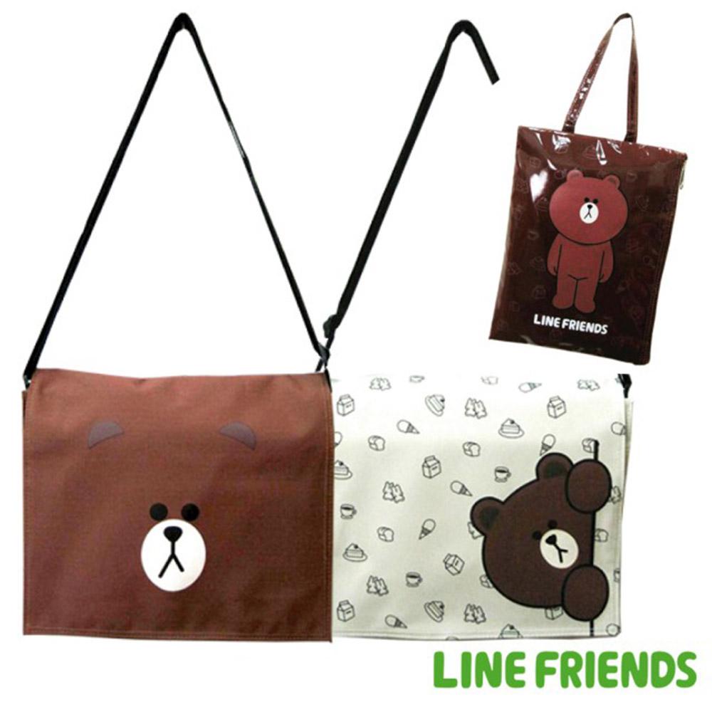 LINE FRIENDS  1+1 側背包+輕質平板袋