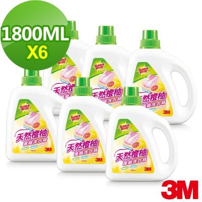 (箱購) 3M 天然橙柚護纖濃縮洗衣精1800ml*6罐