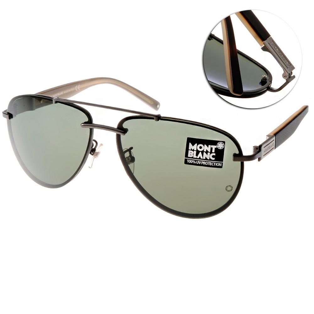 MONTBLANC萬寶龍太陽眼鏡 尊榮精品/黑-銀#MB404S C09N @ Y!購物