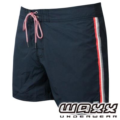 WAXX 經典系列-運動健身吸濕排汗海灘褲(15吋-灰黑色)
