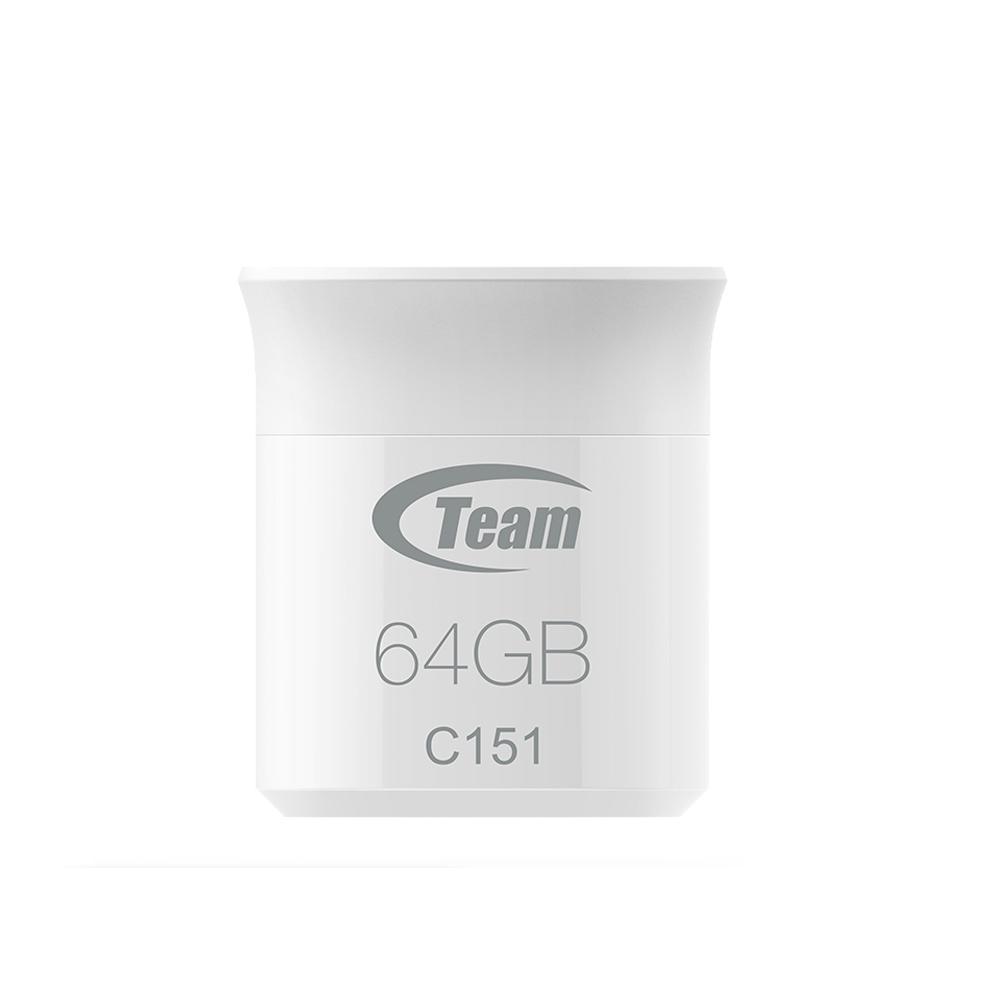 Team 十銓科技 C151 64GB 繽紛輕巧碟-銀
