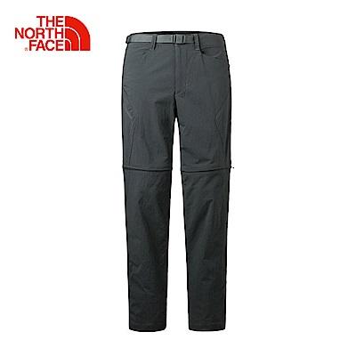 The North Face北面男款深灰色防潑水戶外運動長褲
