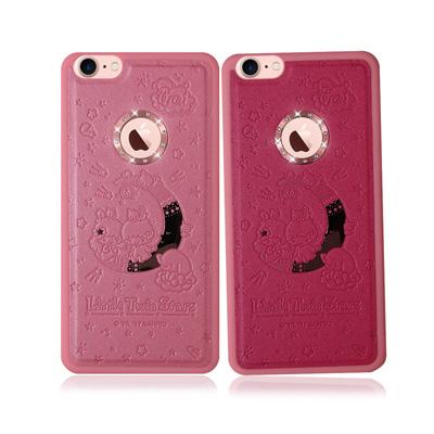 正版授權 雙子星 iPhone 7 星鑽金莎手機殼(晚安星空)