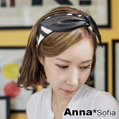 AnnaSofia 皮革愛心絨質 雙面用兔耳髮帶髮圈領結帶(酷黑系)