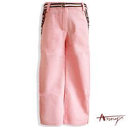 Annys荷葉造型雙口袋長褲*3414粉