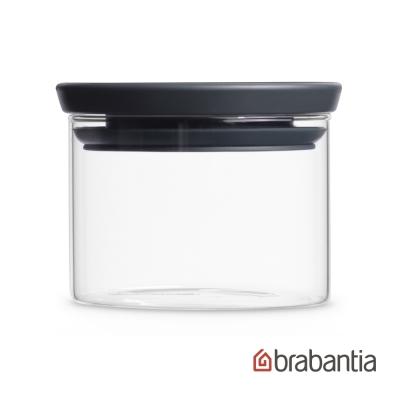 Brabantia 玻璃食物黑蓋儲存罐0.3L