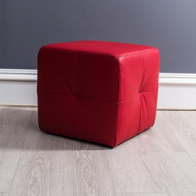 皮沙發 布萊茲全牛皮紅色腳椅 杰諾家居