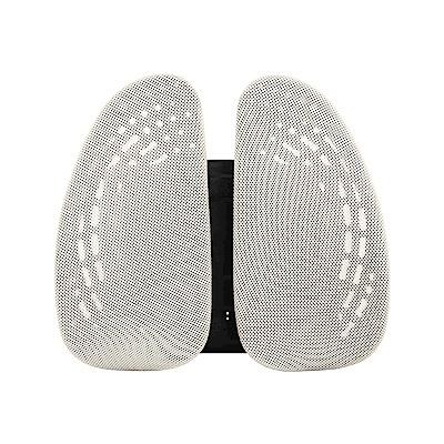 Birdie-德國專利雙背護脊墊/辦公坐椅護腰墊(潔米白)-43x14x39~48cm