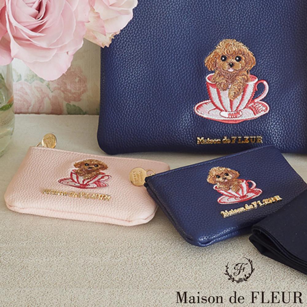 Maison de FLEUR可愛貴賓狗零錢包