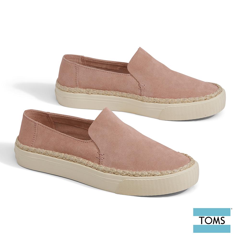 TOMS 麂皮繩索滾邊厚底休閒鞋-女款