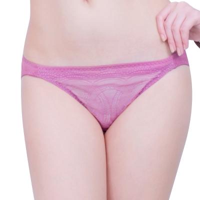 思薇爾 戀波系列M-XL蕾絲低腰三角褲(波莉粉)