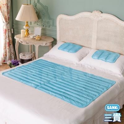 日本三貴SANKi 小資普普風 冷凝+散熱涼墊1床1枕(90x140Cm)