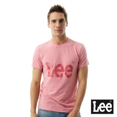 Lee 短袖T恤 大LOGO短袖圓領TEE/RG-男款-粉