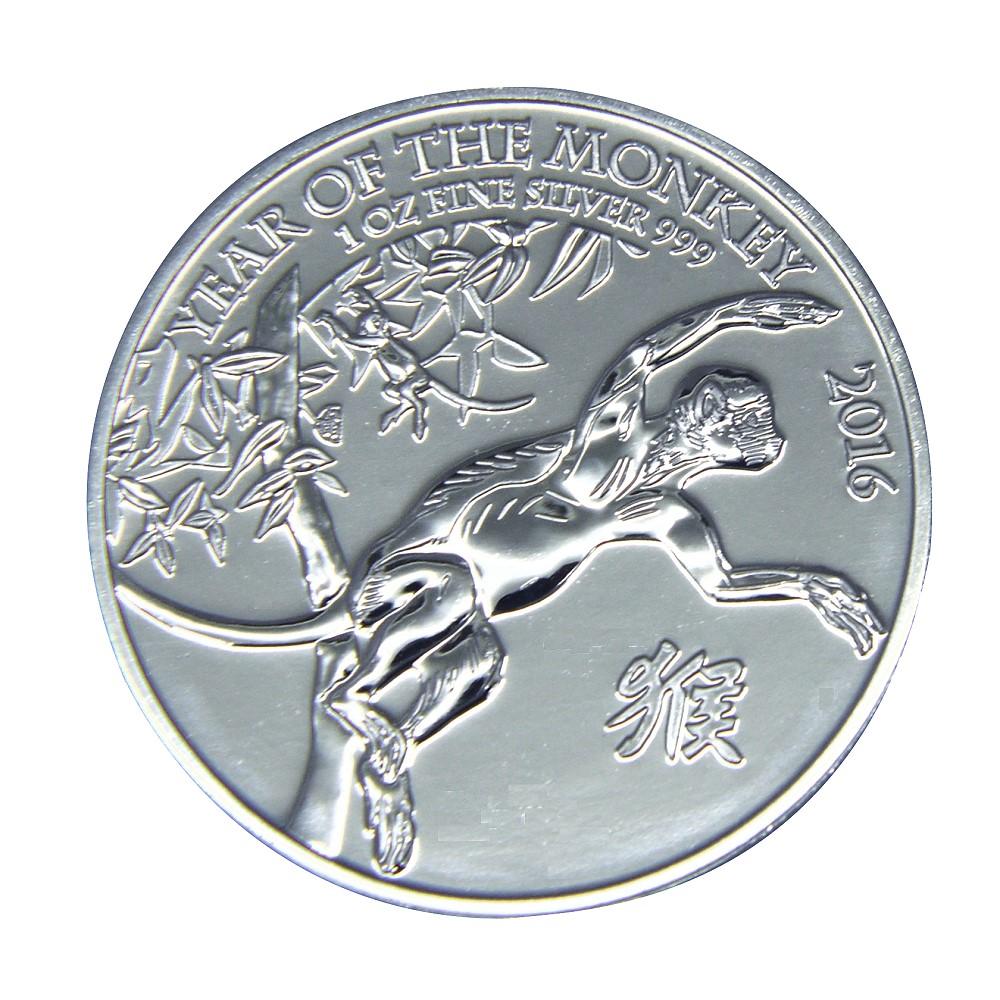 英國(Great Britain)生肖紀念銀幣-2016猴年生肖銀幣(1盎司)