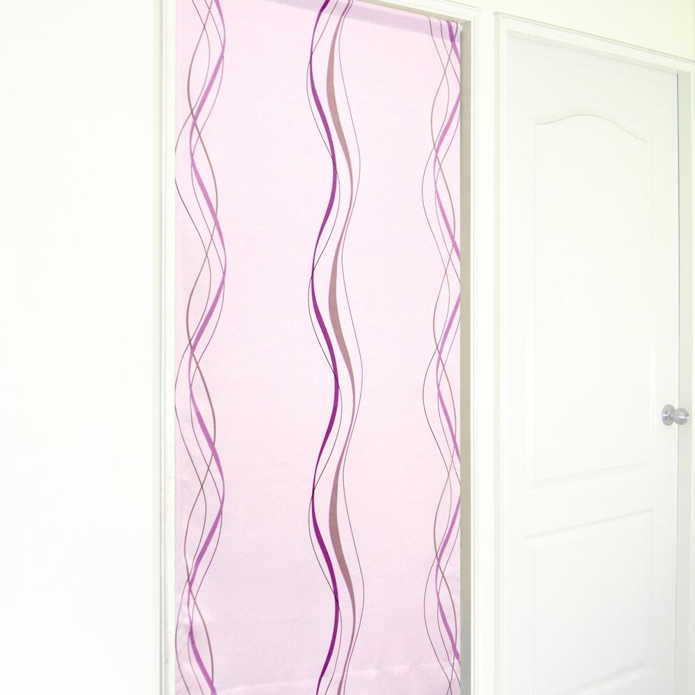 布安於室-多曲線條風水簾-紫色底