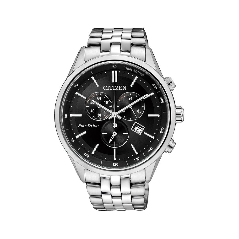 CITIZEN GENT S 時尚光動能計時腕錶(AT2140-55E)-黑/42mm