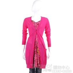 CLASS roberto cavalli 桃紅色假兩件式針織洋裝