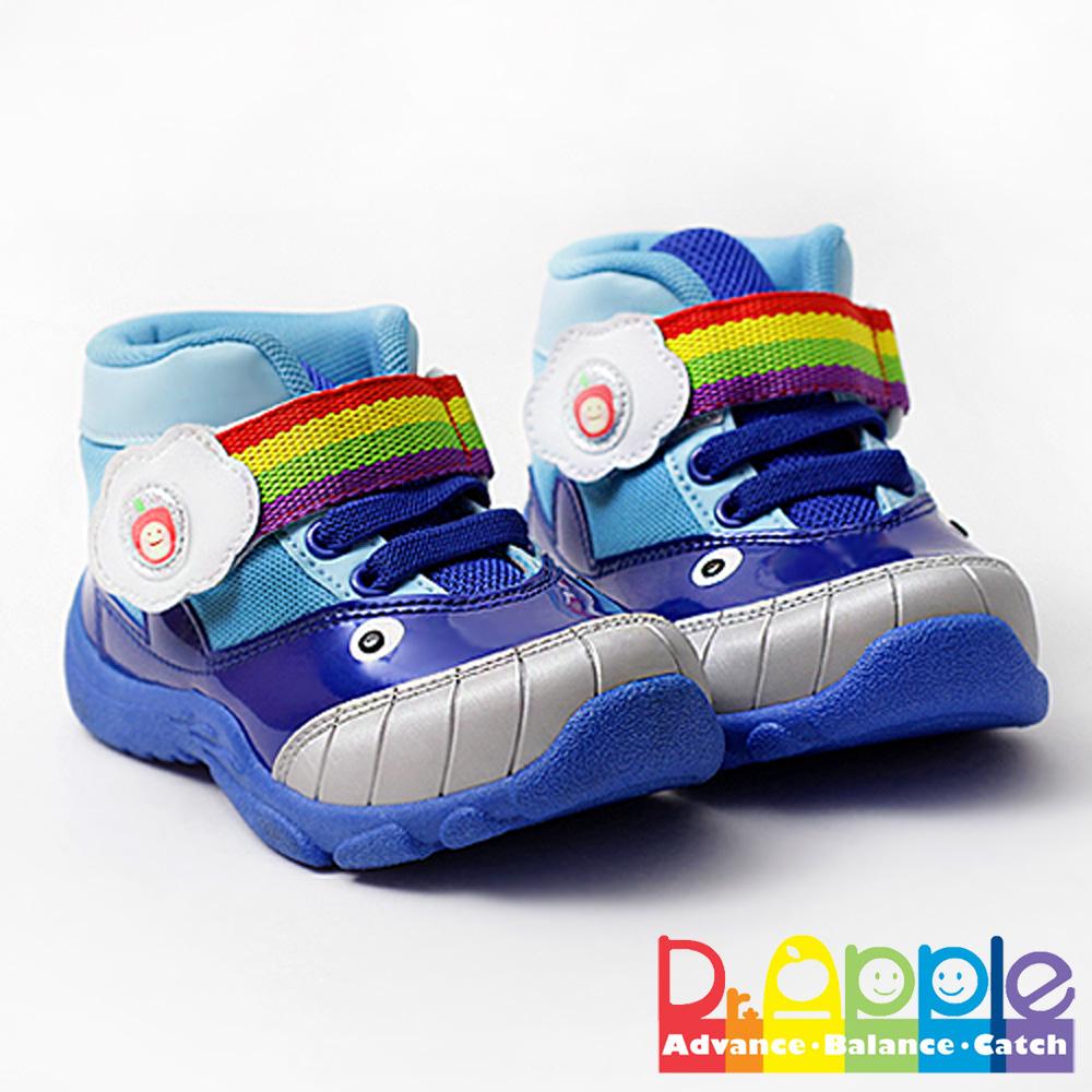 【Dr. Apple 機能童鞋】可愛小鯨魚造型透氣童鞋 藍