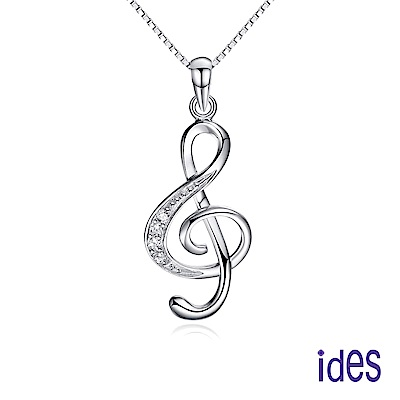 ides愛蒂思  輕珠寶。日韓風潮個性時尚925純銀晶鑽項鍊/愛的旋律