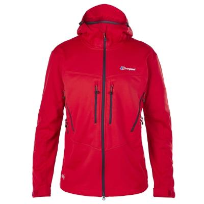 【Berghaus貝豪斯】男款WS超潑水保暖軟殼外套H22MS9-紅