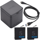 TELESIN 收納式電池充電器套裝(含電池2顆+Type C線) for Hero5/6