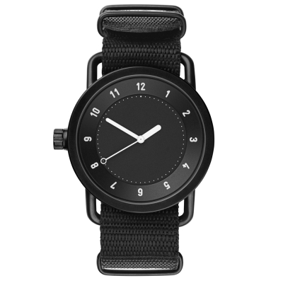 TID Watches No.1 Black-黑x經典尼龍帶腕錶-40mm