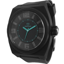 Wize&Ope June系列旋風黑潮休閒腕錶-黑x藍指針/40mm