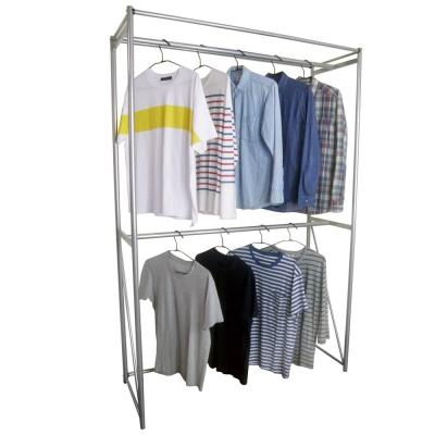 頂堅 120公分寬-鋼管(雙桿)吊衣架/吊衣櫥(附布套13色可選)