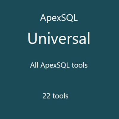 ApexSQL Universal (資料庫開發工具) 單機版 (下載版)