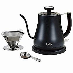 歌林溫度顯示咖啡手沖細口快煮壺 KPK-LN081S