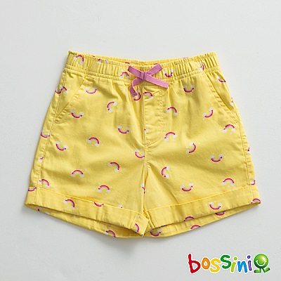 bossini女童-印花輕便短褲01芒果黃