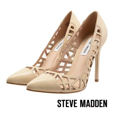 STEVE-MADDEN-鏤空尖頭高跟鞋-氣質裸