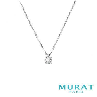 MURAT Paris米哈巴黎 優雅圓形單鑽項鍊