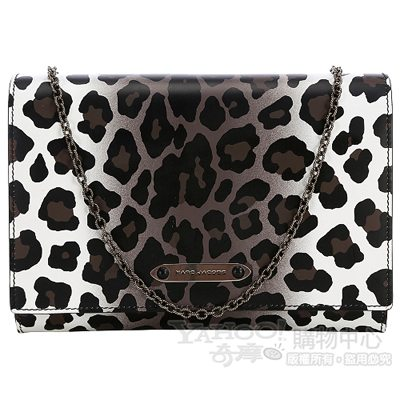 MARC JACOBS Wild Universal All In One 豹紋鍊帶晚宴包