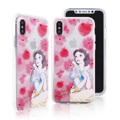 Disney迪士尼iPhone X施華洛世奇水鑽雙料保護殼_公主手繪白雪公主