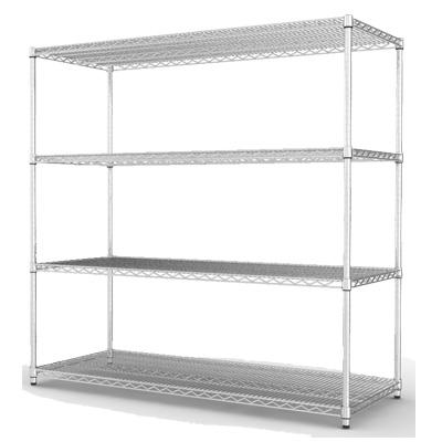 《海克力士》超荷重寬150深60高180-鍍鉻四層鐵櫃