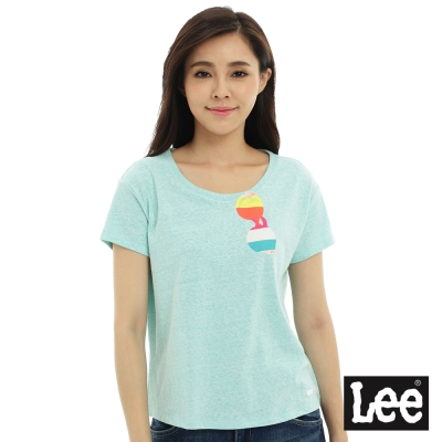 Lee 太陽眼鏡印刷短袖圓領-女款-翡翠綠