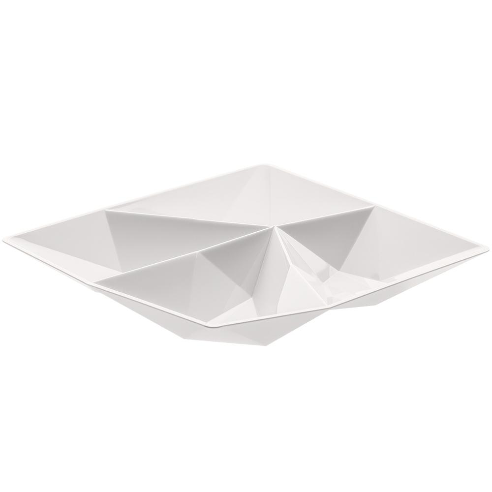 KOZIOL 四格幾何點心盤(白)