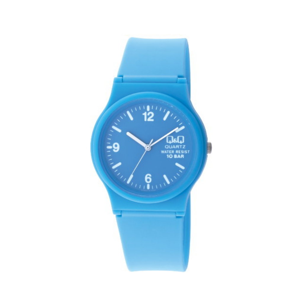 Q&Q 日系個性混搭甜蜜糖果潮流錶-藍/35mm