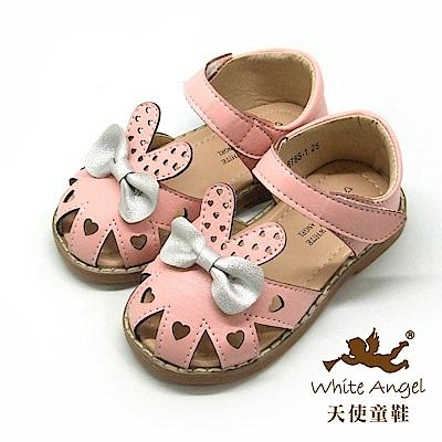天使童鞋 愛心兔兔護趾涼鞋 i2878-粉