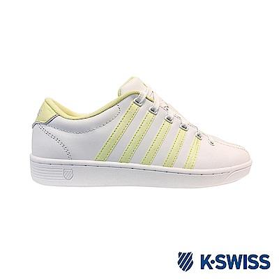 K-SWISS COURT PRO II休閒運動鞋-女-白/鵝黃