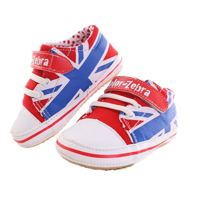 英國旗寶寶外出鞋 紅  sh9901