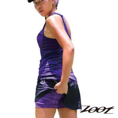 ZOOT 瑜珈式二合一3吋輕肌能跑褲(薰衣紫)(女) Z1504008