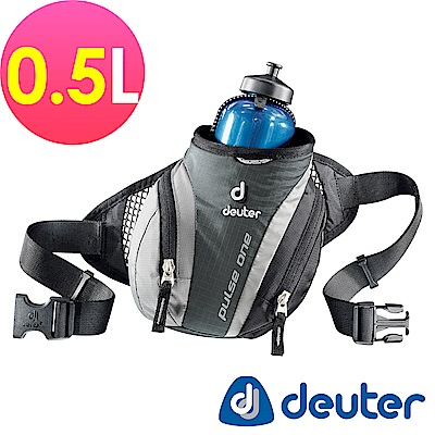 【ATUNAS 歐都納】德國DEUTER單車慢跑路跑隨身水壺腰包0.5L /39070黑灰