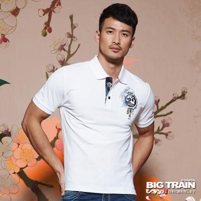 BIG TRAIN中大尺碼 加大濤浪家徽墨達人POLO衫-男-漂白