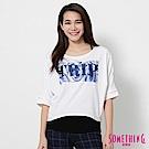 SOMETHING 果凍造型印花短袖T恤-女-白色