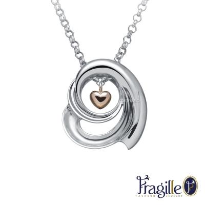 彩糖鑽工坊 秘密 愛心銀項鍊 雙面項鍊 Fragille 系列