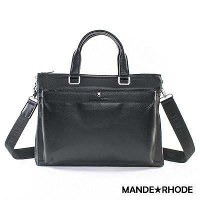 MANDE RHODE-威尼斯x真牛皮多夾層兩用公事包(2139)