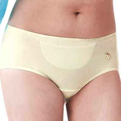 嬪婷學生內褲甲殼素M-LL夜間生理褲甜美黃