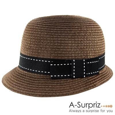 A-Surpriz 英倫典雅風情遮陽帽(知性咖)